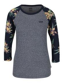 Modro-šedé dámské žíhané tričko VANS Fall Tropics