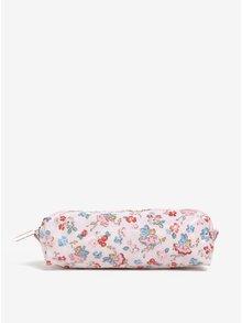 Růžový penál s potiskem květin a víl květy Cath Kidston