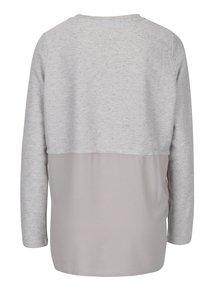 Svetlosivé melírované tričko s potlačou VERO MODA Sasha