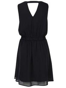 Čierne šaty s korálkovou aplikáciou VERO MODA Lollie