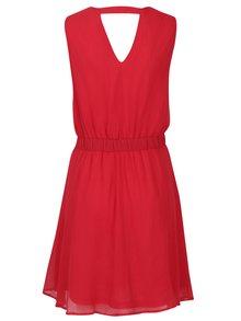 Červené šaty s korálkovou aplikáciou VERO MODA Lollie