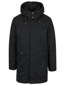 Černá delší bunda s odnímatelnou kapucí Casual Friday by Blend