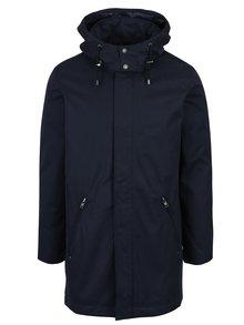 Tmavomodrá dlhšia bunda so snímateľnou kapucňou Casual Friday by Blend