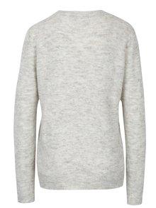 Svetlosivý sveter so vzorom kvetín a prímesou vlny z alpaky  VERO MODA Compton