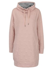 Světle růžové mikinové šaty ONLY Serena