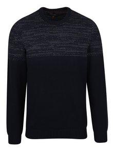Čierny slim fit sveter s drobným vzorom Blend