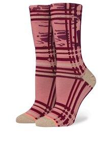 Vínové dámské třpytivé ponožky Stance Carroll Gardens