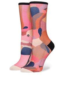 Růžovo-červené dámské vzorované ponožky Stance Stolen KIss Crew