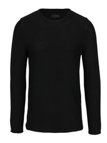 Černý žebrovaný svetr Casual Friday by Blend