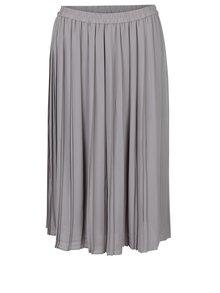 Světle šedá plisovaná midi sukně VERO MODA Swing