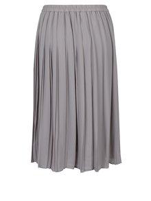 Svetlosivá plisovaná sukňa VERO MODA Swing