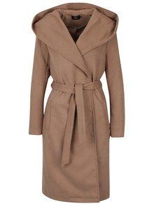 Hnědý kabát s kapucí ONLY Phoebe
