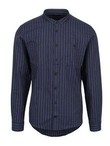 Tmavomodrá pruhovaná košeľa Casual Friday by Blend