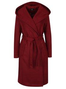 Vínový kabát s kapucí ONLY Phoebe