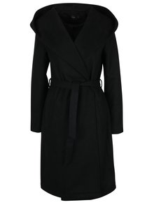 Černý kabát s kapucí ONLY Phoebe