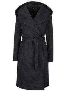 Tmavě šedý kabát s kapucí ONLY Phoebe