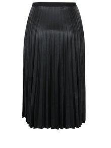 Černá koženková plisovaná sukně VERO MODA Jo