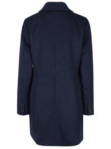 Tmavomodrý kabát s prímesou vlny VERO MODA Pisa