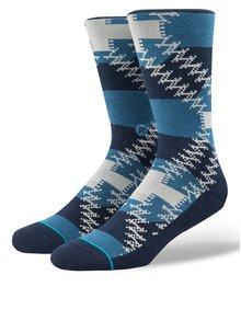 Modré pánske vzorované ponožky Stance Mustang