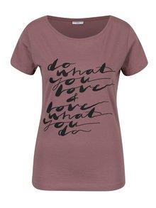 Tricou roz prăfuit cu mesaj -  Jacqueline de Yong Chicago