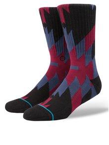 Čierno-vínové pánske vzorované ponožky Stance Elite