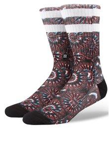 Červeno-čierne pánske vzorované ponožky Stance Outtie