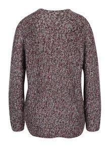 Vínový melírovaný sveter Jacqueline de Yong Kendra