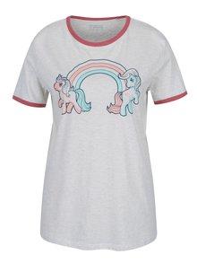 Tricou gri cu print ponei pentru femei ZOOT Original Ponny