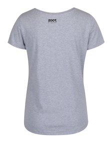 Svetlomodré melírované dámske tričko s potlačou ZOOT Original Kazeta