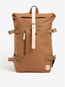 Hnědý batoh s koženými detaily Hiker Roll Top Backpack Enter 16 l