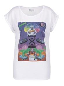 Tricou alb cu print de inspirație retro pentru femei ZOOT Original Koláž