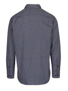 Camasa bleumarin modern fit cu print tartan - Seidensticker