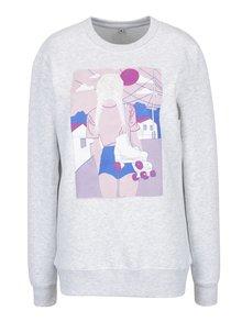 Bluza gri cu print pentru femei ZOOT Original Moodgirl