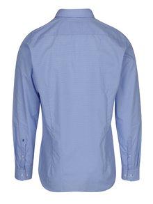 Svetlomodrá formálna vzorovaná slim fit košeľa Seidensticker