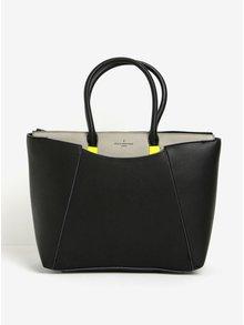 Geantă neagră cu detalii galben neon Paul's Boutique Abigail