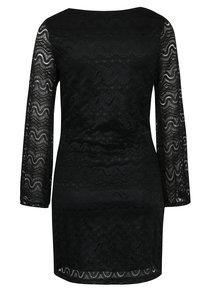 Rochie neagră din dantelă cu mâneci - clopot Mela London
