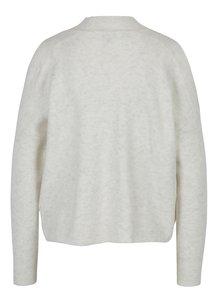 Krémový melírovaný sveter s prestrihmi na ramenách Miss Selfridge