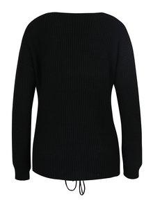 Čierny sveter so šnurovaním Miss Selfridge