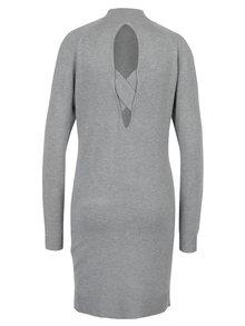 Rochie pulover gri deschis cu decupaje Miss Selfridge
