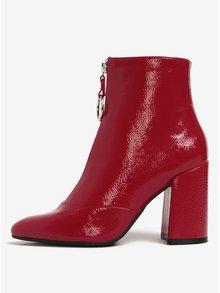 Červené členkové topánky na podpätku Miss Selfridge