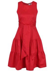 Červené áčkové šaty bez rukávů Closet