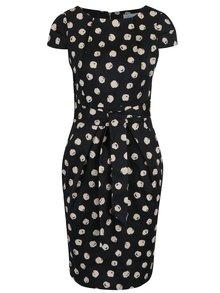 Čierne bodkované puzdrové šaty Closet