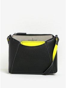 Geantă crossbody neagră&gri cu detalii galben neon Paul's Boutique Layla