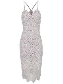 Světle fialové krajkové šaty Chi Chi London