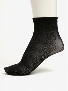 Șosete negre scurte cu model dantelat Pieces Crille