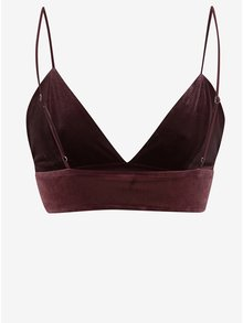 Sutien bordo din catifea  Pieces Crosita
