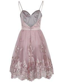 Staroružové šaty s tylovou sukňou Chi Chi London Elise