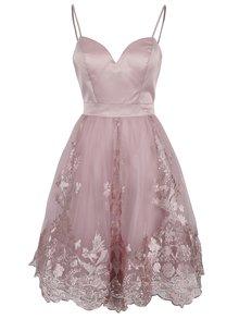Starorůžové šaty s tylovou sukní Chi Chi London Elise