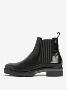 Čierne dámske kožené chelsea topánky Tommy hilfiger Roxana