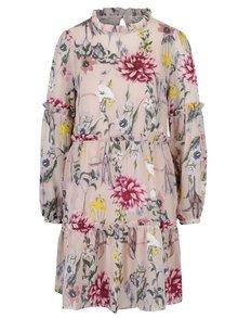 Světle růžové květované šaty Miss Selfridge